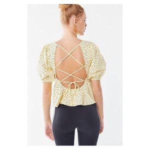 UO Rosaleen Strappy Tie-Back Pelum Top
